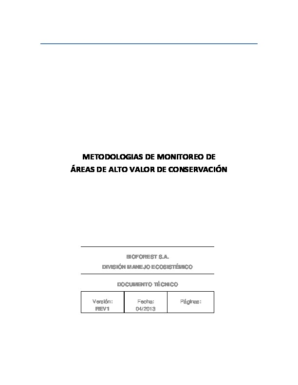 Metodología de Monitoreo AAVC (FASA abril 2013)