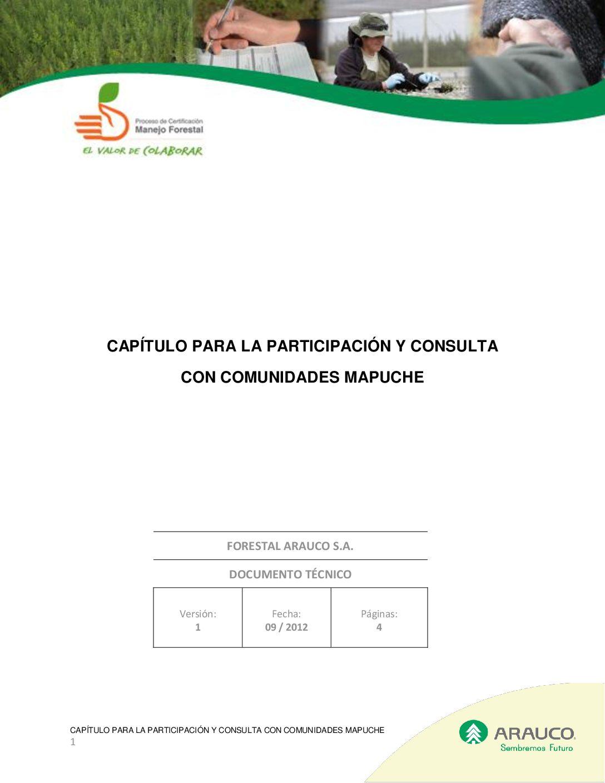 Capítulo Participación y Consulta Comunidades Mapuche 2012 09