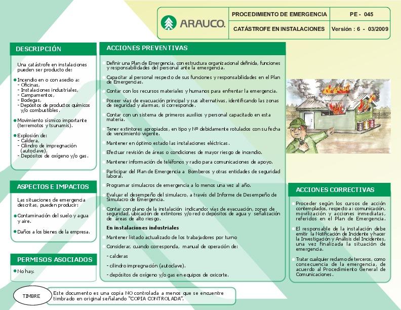 Catástrofe e instalaciones (PE 45 v7 0309)