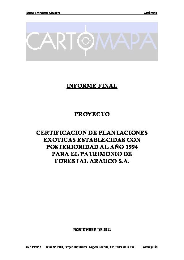 Informe Cartomapa