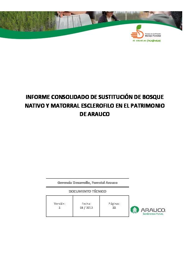 Informe Sustitucion de Bosque Nativo