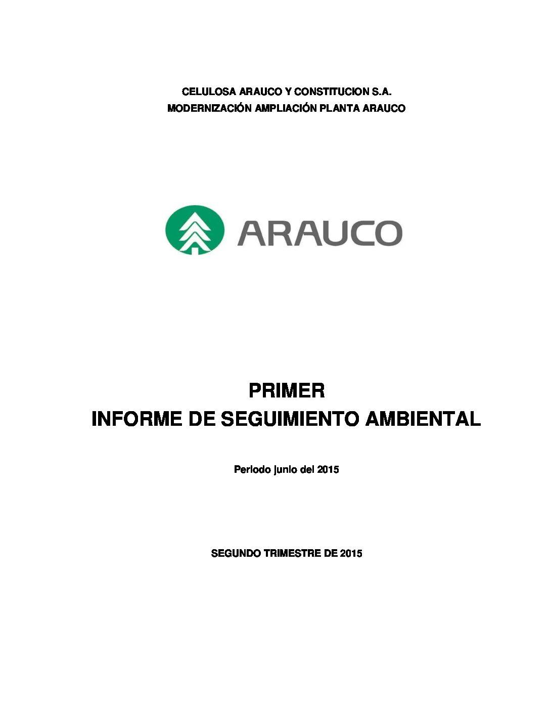PRIMER INFORME DE SEGUIMIENTO AMBIENTAL