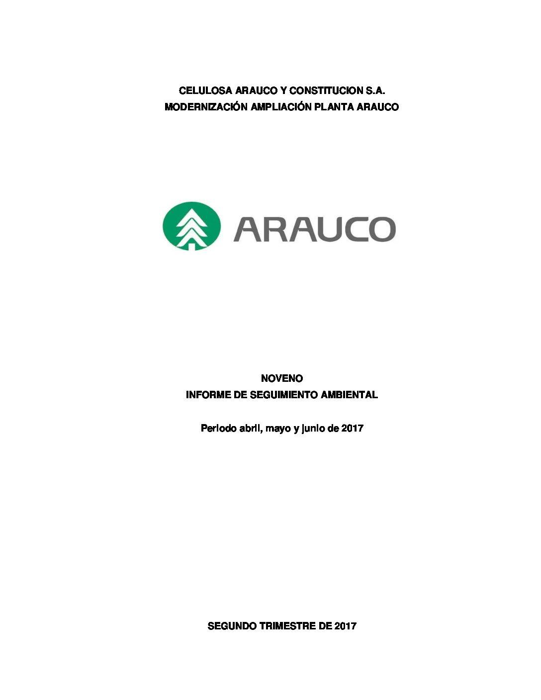 Noveno informe de seguimiento ambiental