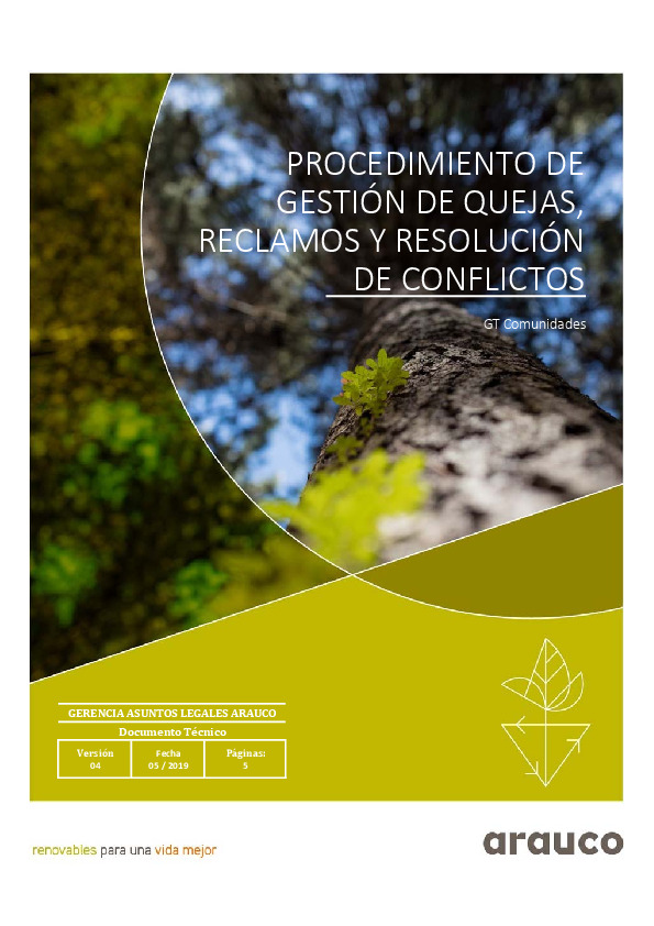 Procedimiento de Gestión de quejas reclamos y resolución de conflictos