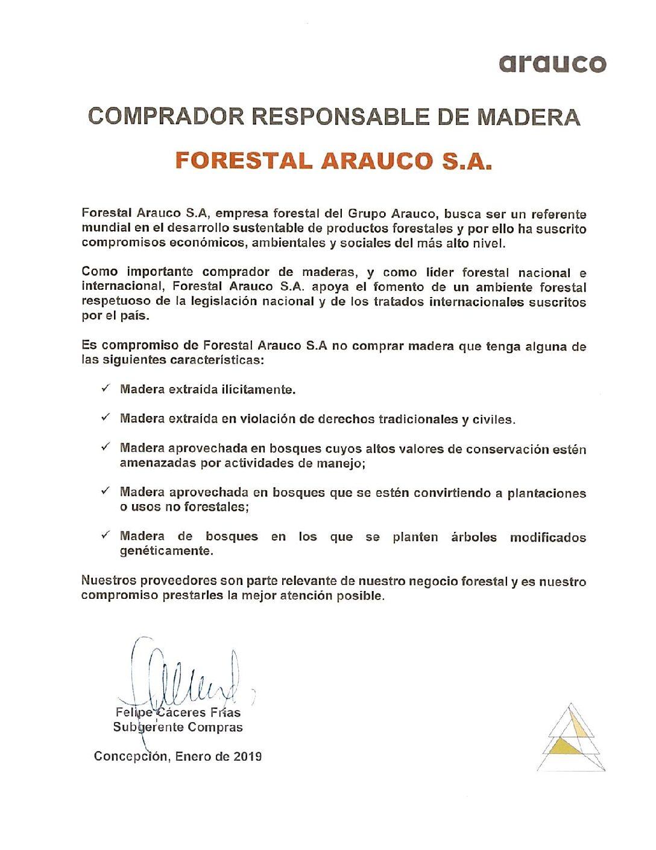 Politica comprador responsable de Madera FASA
