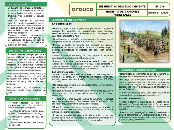 Tránsito de Camiones Forestales