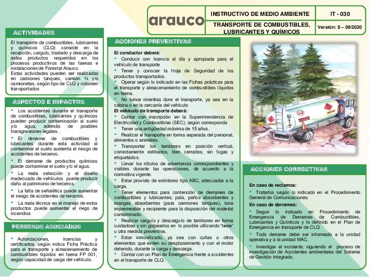 Transporte de Combustibles, Lubricantes y Químicos