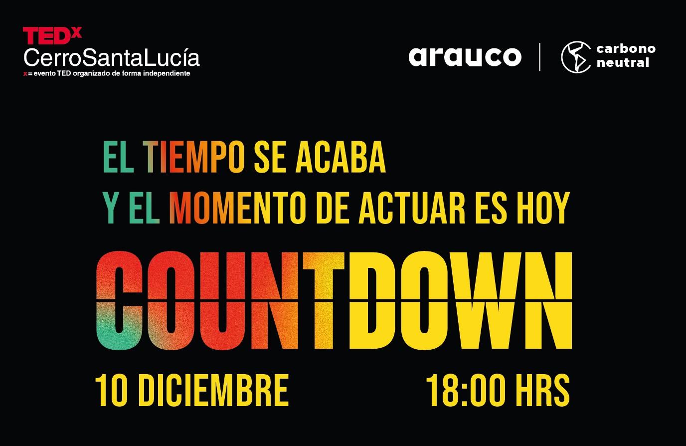Participa de TEDxCerroSantaLucía COUNTDOWN