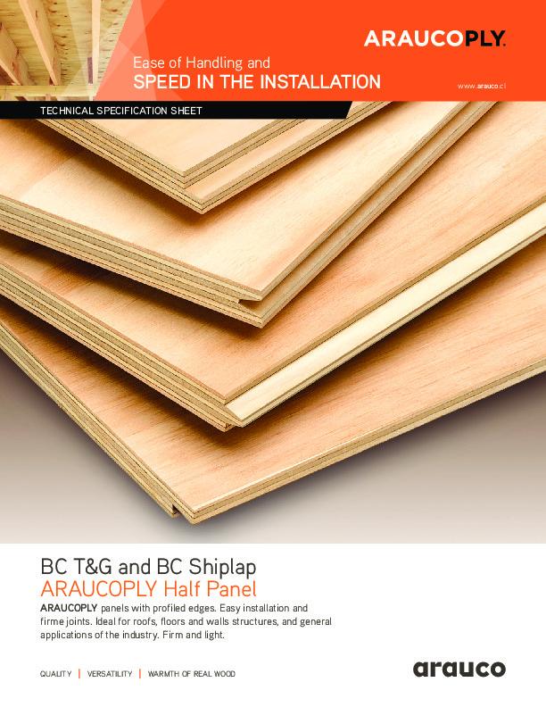 ARAUCOPLY BC T&G/Shiplap - Half Panel