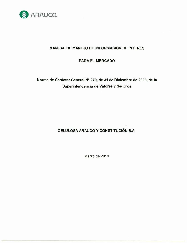 Market Disclosure Manual